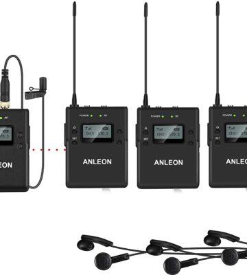 ANLEON MTG-300 Highest Performance Guided Tour System, Language Interpretation System (1 Transmitter -2 Receivers)